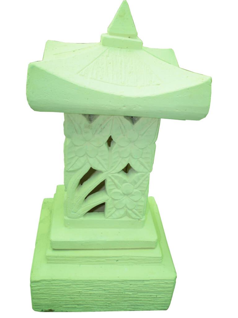 Домик-фонарь белый - фото