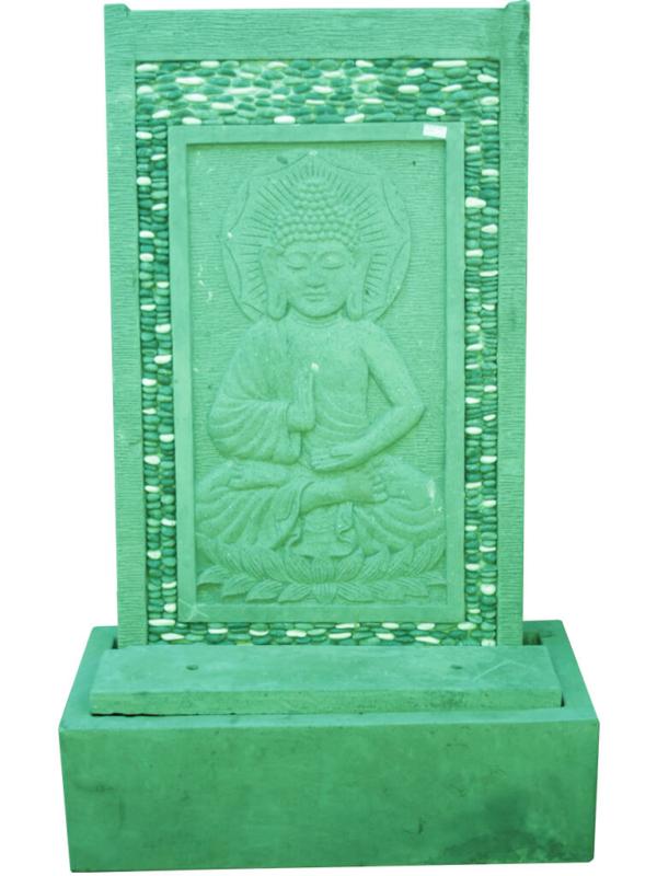Пристенный фонтан Будда серого цвета - фото