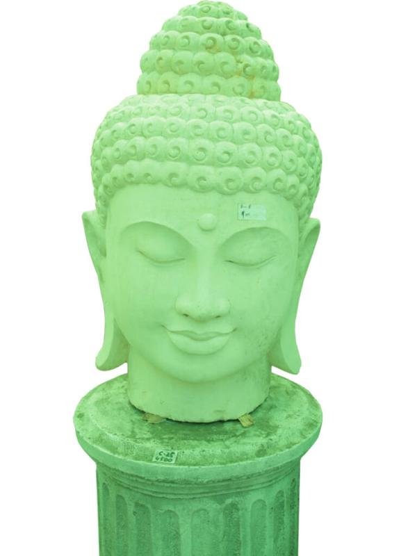 """Скульптура """"Голова Будды"""" из бетона - фото"""