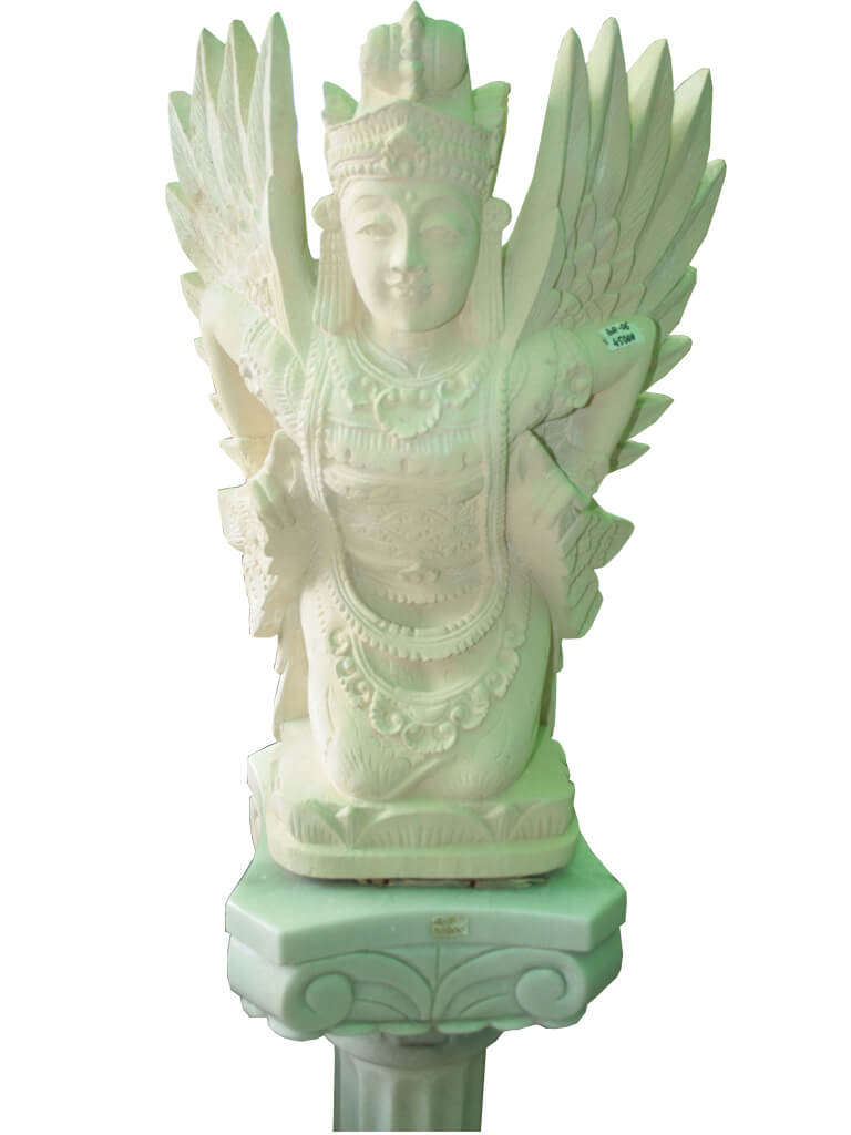 Статуя ангела из бетона - фото